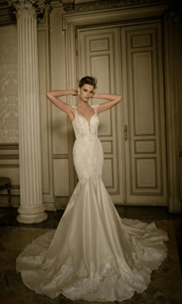 свадебные платья приталенные кружевные фото