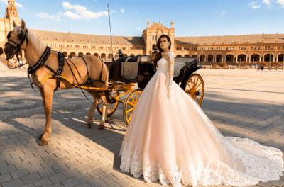 свадебные платья с шлейфом и кружевом