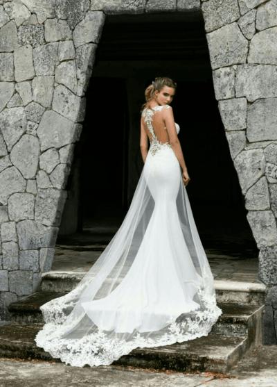 красивые свадебные шлейфы свадебных платьев