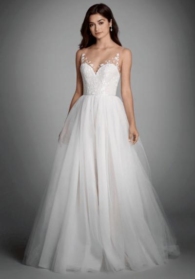 свадебные платья из фатина и кружева