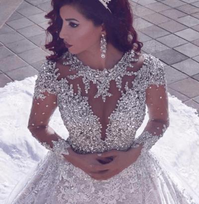 свадебные платья пышные со стразами