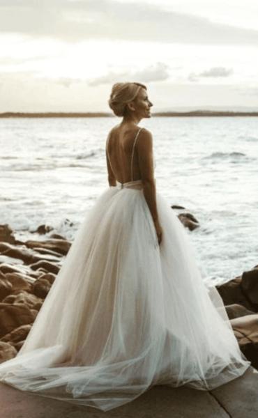 свадебное платье спинка