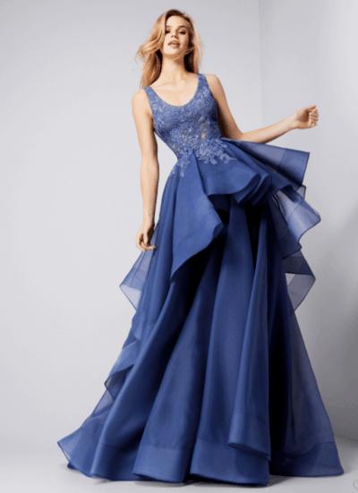 невеста в синем платье