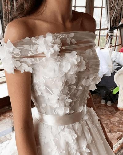 свадебные платья для широких плеч