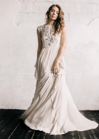свадебные платья в пол не пышные фото