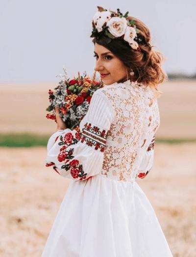 свадебный наряд народов россии
