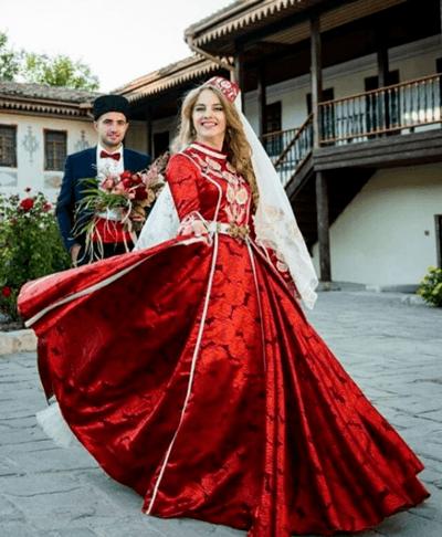 татарское свадебное платье фото
