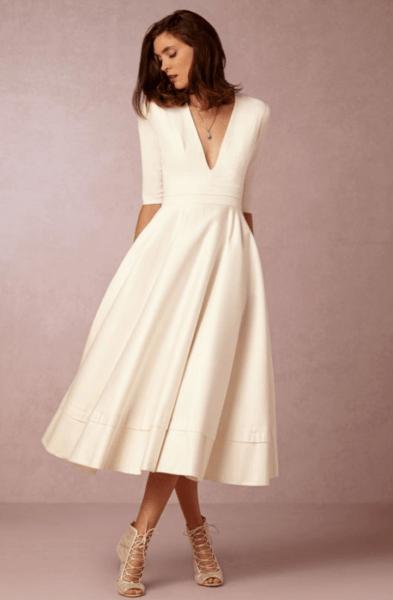 красивые короткие свадебные платья