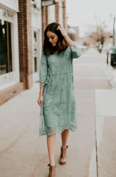 зеленое платье на свадьбу