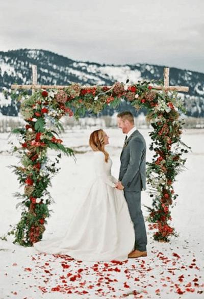 зимнее свадебное платье для беременных