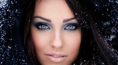 макияж свадебный голубых