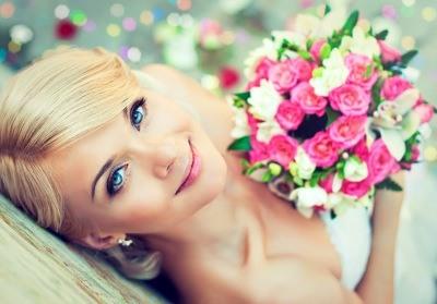 свадебный макияж фото для голубых