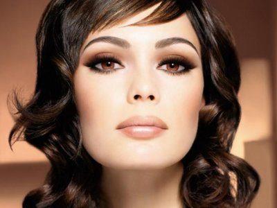 макияж свадебный для карих глаз и волос