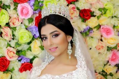 свадебный макияж и прическа 2018
