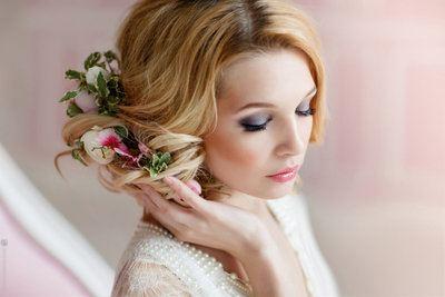 свадебный макияж фото для невесты блондинки
