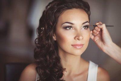 свадебный макияж фото для невесты брюнетки
