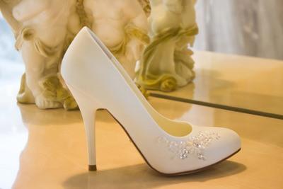 белые туфли на каблуке на свадьбу