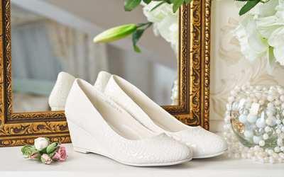 белые туфли на свадьбу фото