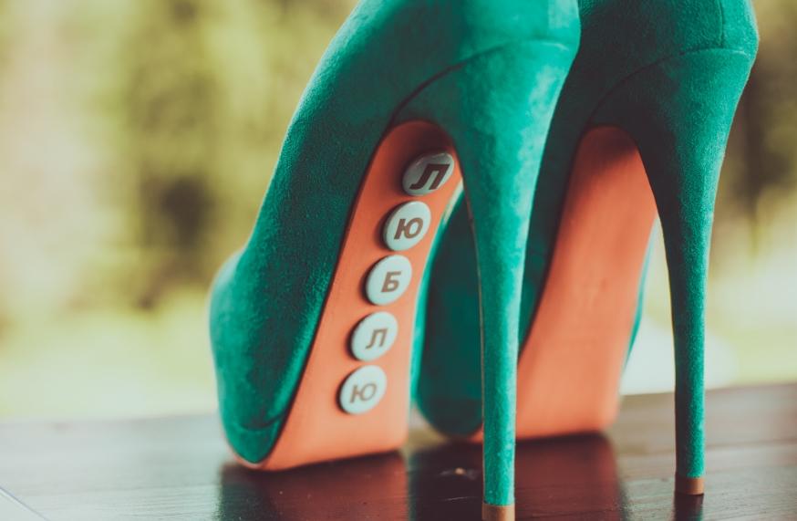 цвет свадебных туфель