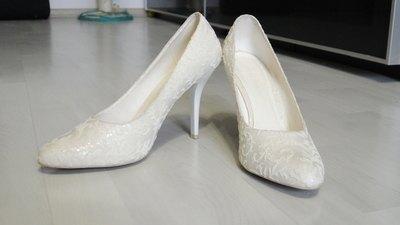 свадебные туфли на низком