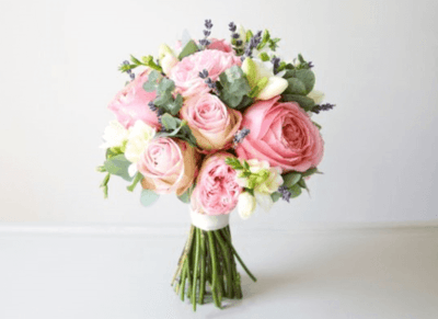 Идеи для букета невесты из кустовых роз