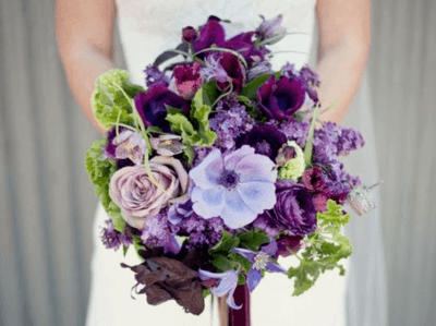 букет невесты в сиреневом цвете