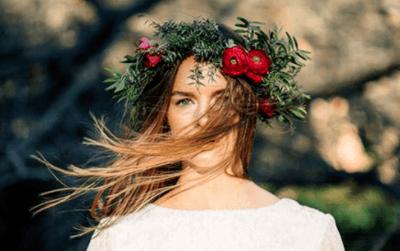 Идеи свадебной прически с цветами