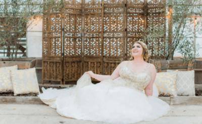 короткие свадебные платья на полных девушек