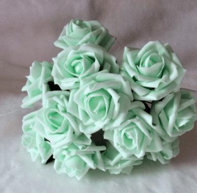 букет невесты в мятном цвете
