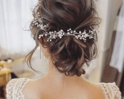 свадебные прически на средние светлые волосы