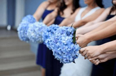 Голубой свадебный букет