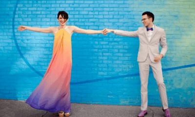цветные свадебные платья фото