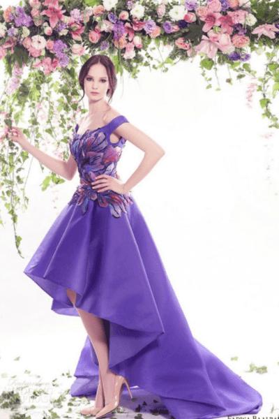 Свадебное платье фиолетового цвета (сиреневое)