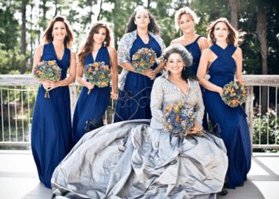 Свадебные платья серого цвета