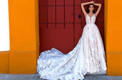 Шикарные свадебные платья со шлейфом