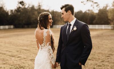 Платье на свадьбу с открытой спиной