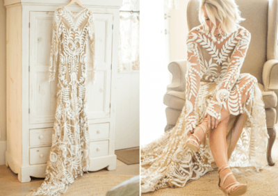 ажурное свадебное платье