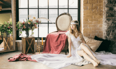 Свадебный пеньюар для утра невесты
