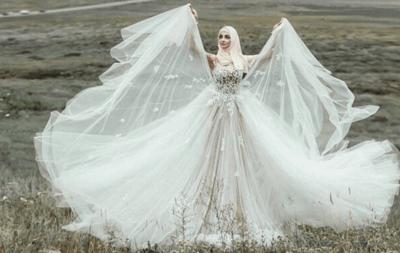 Национальный татарский свадебный наряд невесты