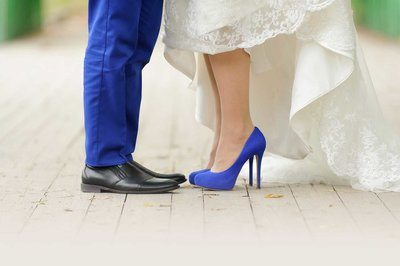 какого цвета свадебные туфли